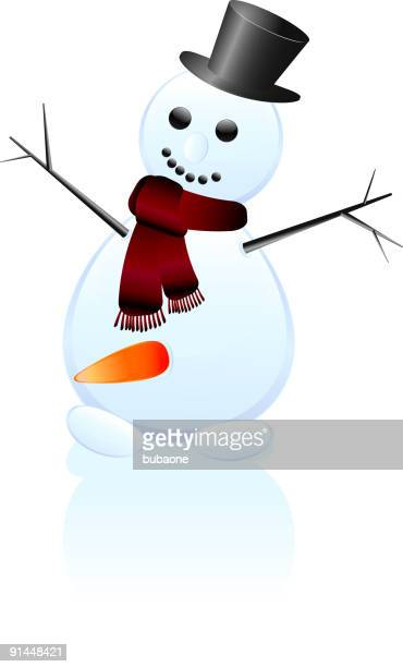 snowman with carrot - penis stock illustrations, clip art, cartoons, & icons