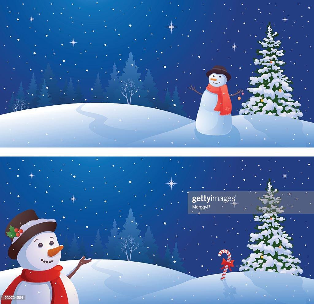 Snowmen banners
