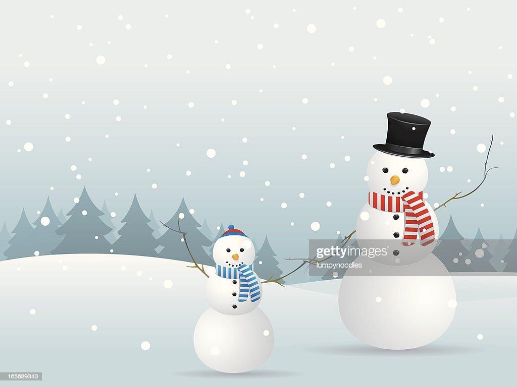 Snowmen Holding Hands