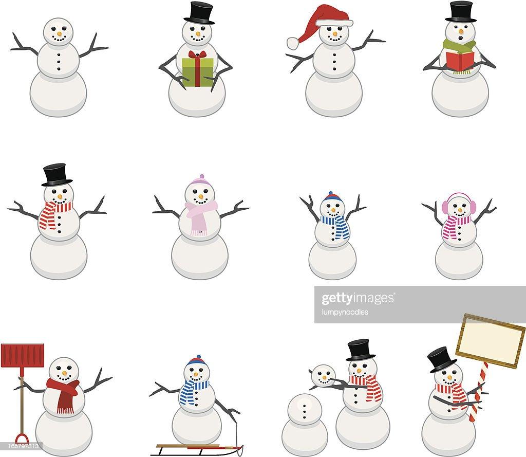 Snowmen Icons