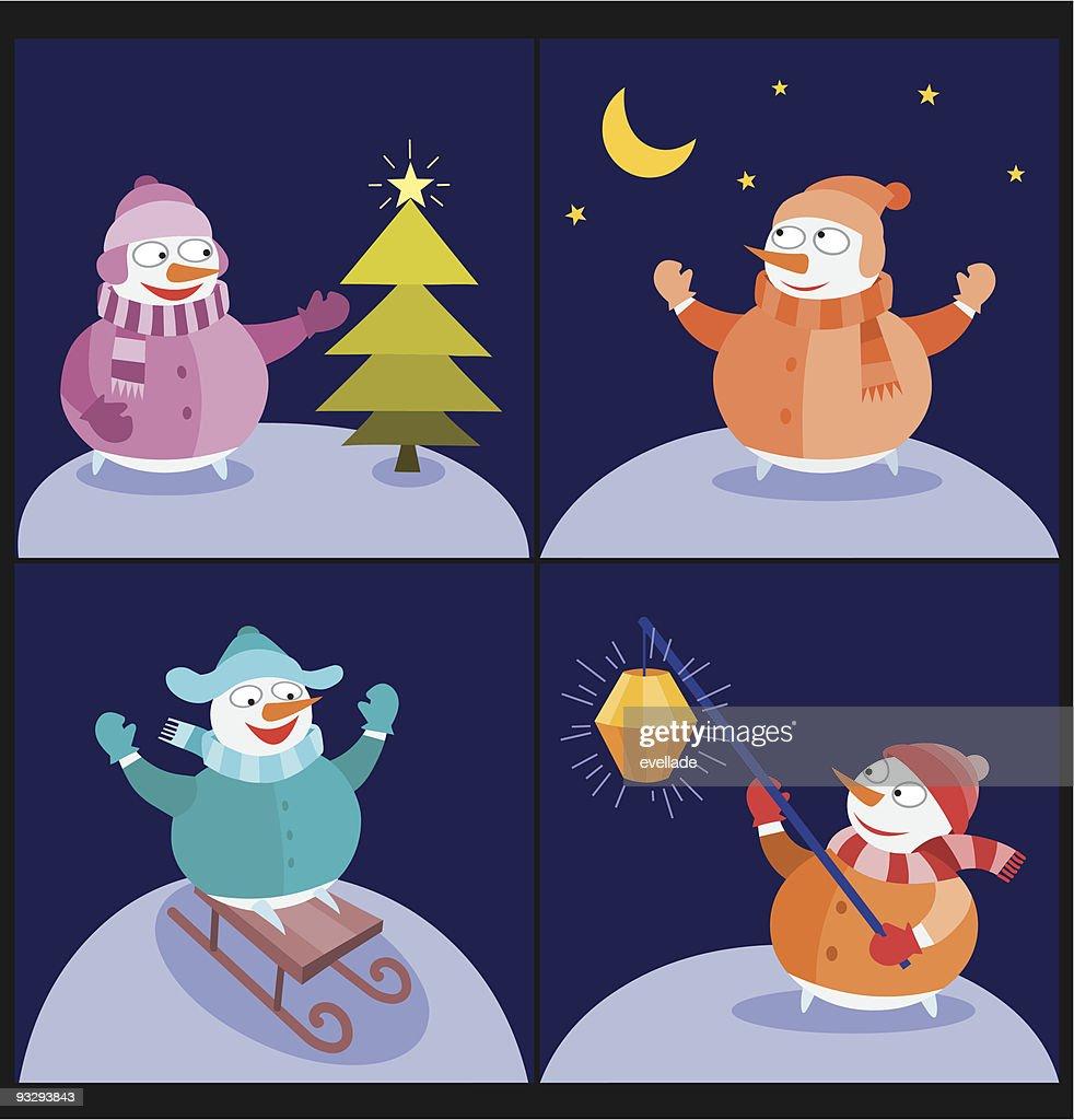 Snowmen images - Night