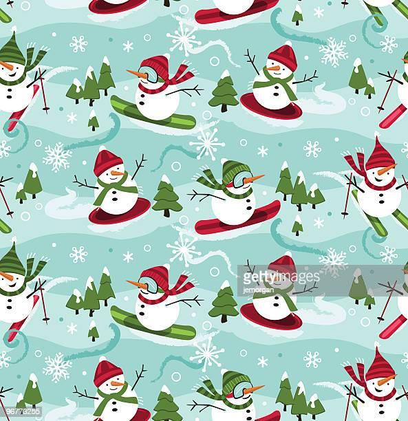 illustrations, cliparts, dessins animés et icônes de de bonshommes de neige aux skieurs et aux pilotes de motoneige - ski humour
