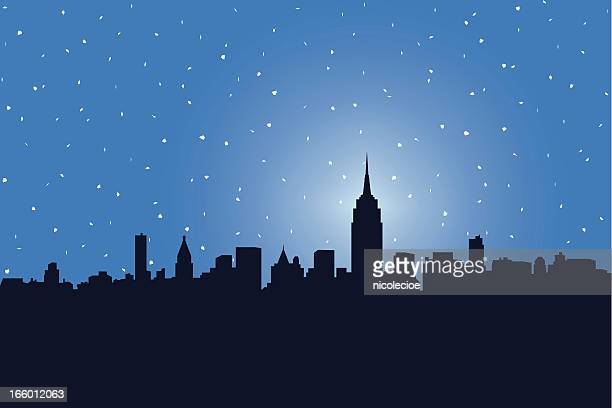 nyc snowstorm - blizzard stock illustrations, clip art, cartoons, & icons