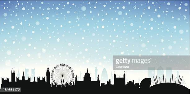 Snowy London (Each Building is Moveable and Complete)