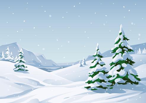 Snowy Winter Landscape - gettyimageskorea