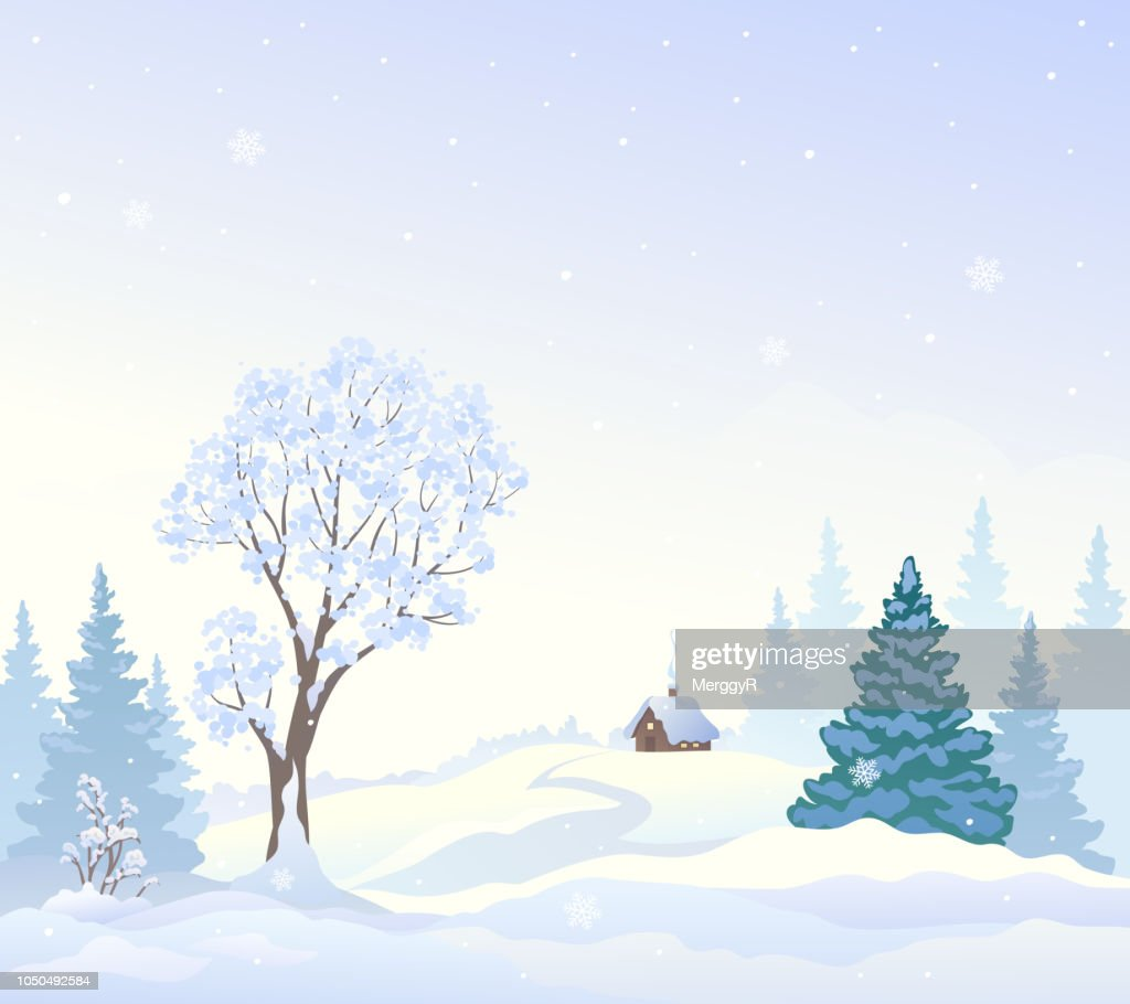 Snowy wonderland background