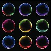 soap bubble buttons