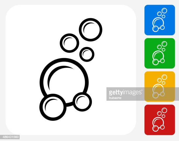Soap Bubbles Icon Flat Graphic Design