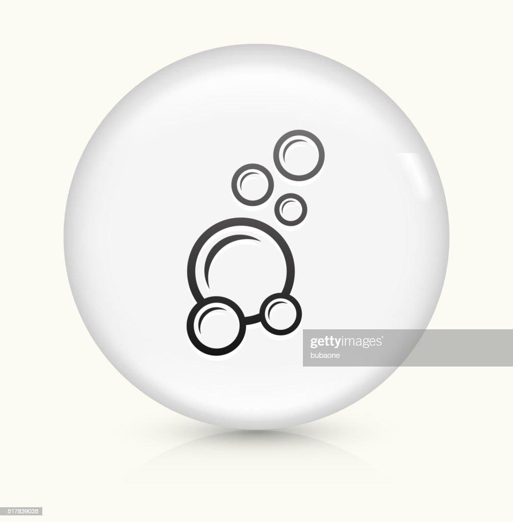 soap bubbles icon on white round vector button