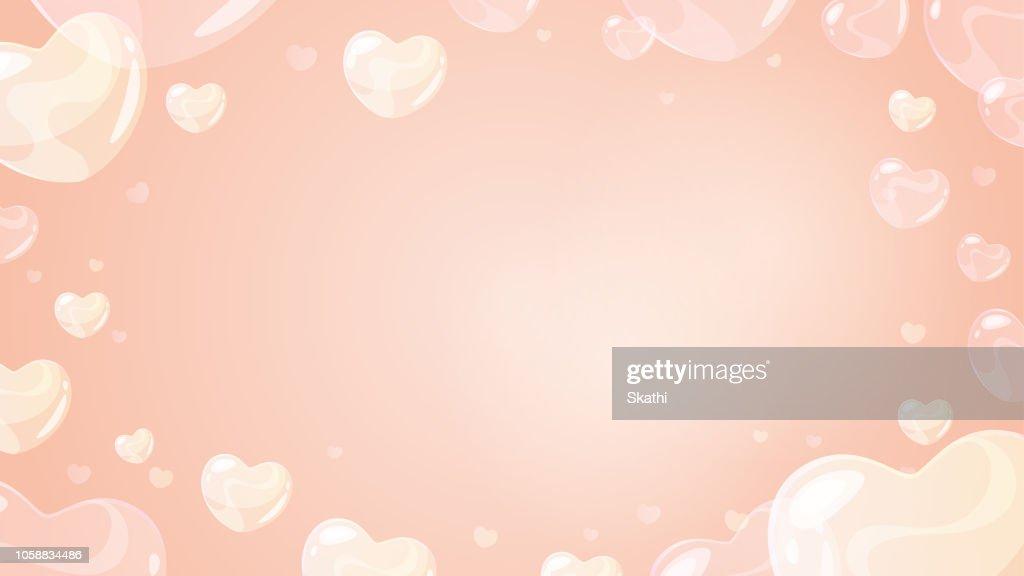 soap heart shaped bubbles
