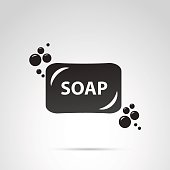 Soap icon isolated on white background.