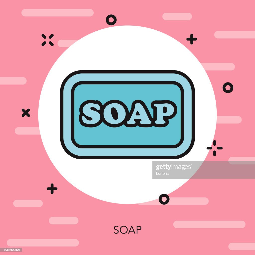 Soap Thin Line Beauty Icon stock illustration - Getty Images