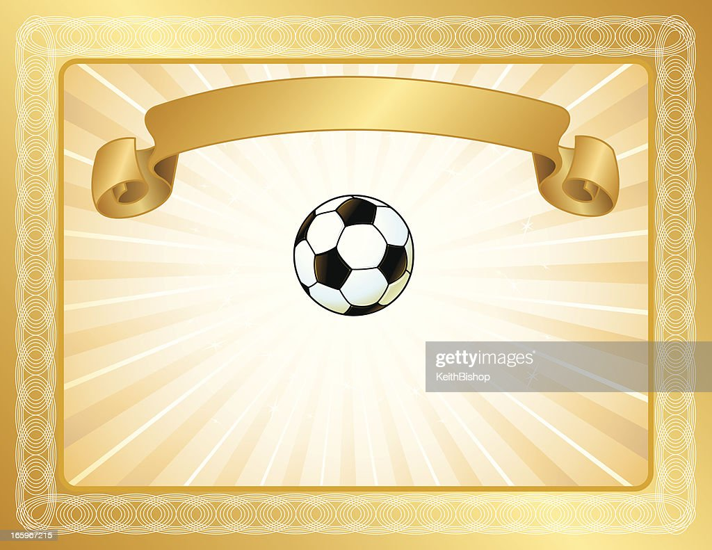 soccer award certificate vector art getty images
