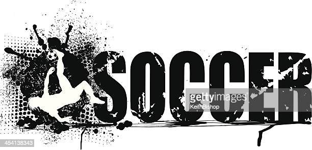 soccer background grunge graphic - football team stock illustrations