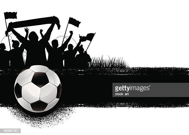 soccer background - fan enthusiast stock illustrations, clip art, cartoons, & icons