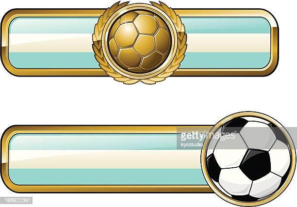 soccer badge argentina - sports organization stock illustrations, clip art, cartoons, & icons