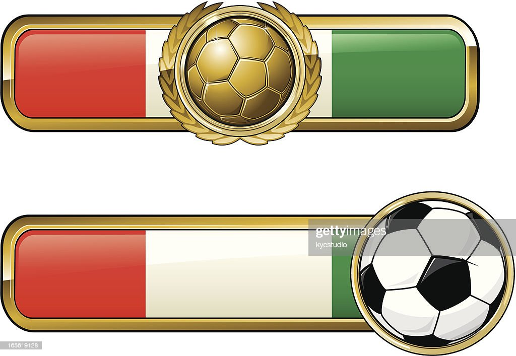 Fussballwappenitalien Stock Illustration Getty Images