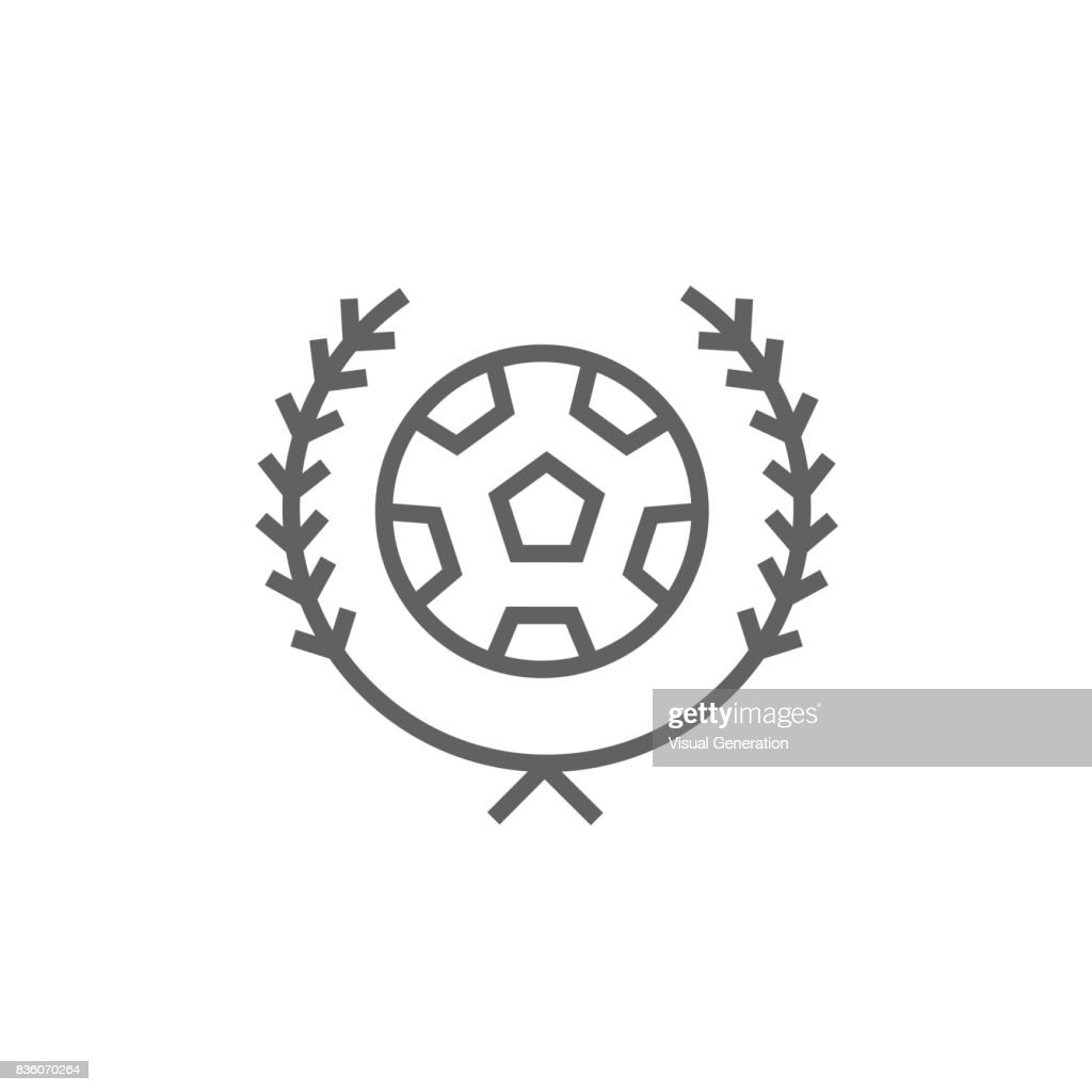 Soccer badge line icon