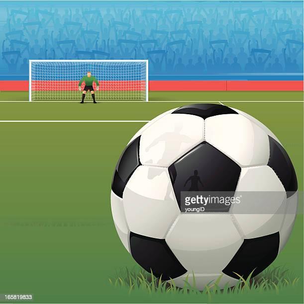 fußball ball hintergrund - tor sportgerät stock-grafiken, -clipart, -cartoons und -symbole