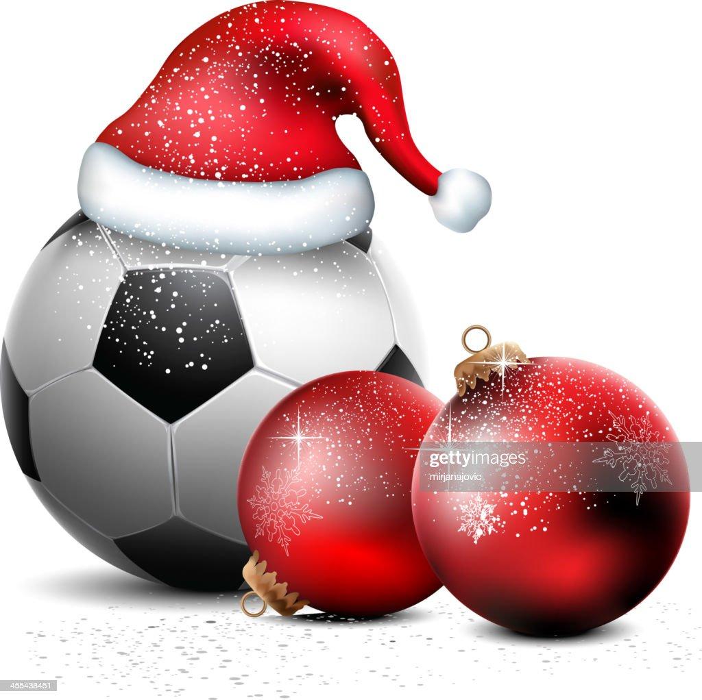 Fussball Ball Weihnachten Hintergrund Stock Illustration