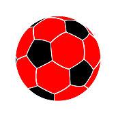 Soccer ball, football icon – stock vector