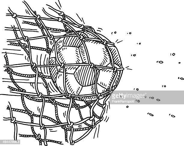 サッカーボールの目標ネットスコアリング図面