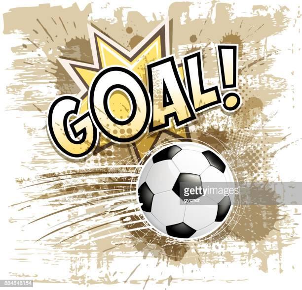 soccer ball goal sign