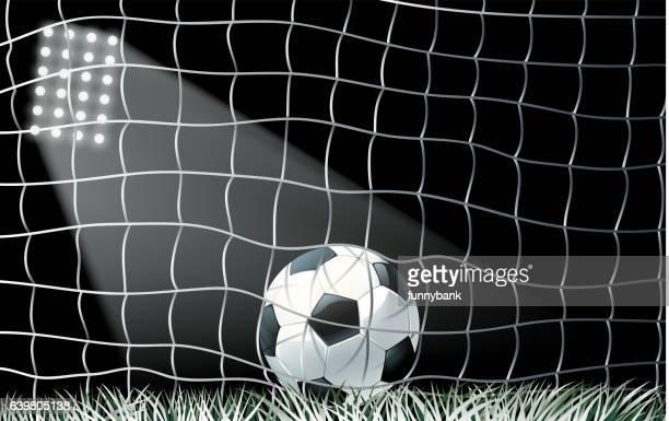30 Hochwertige Fussballnetz Stock Vektoren Und Grafiken