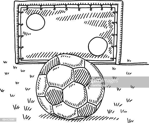 Soccer Ball Goal Wall Challenge Drawing