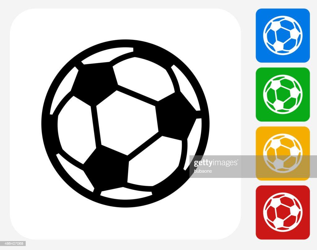 Soccer Ball Icon Flat Graphic Design : stock illustration