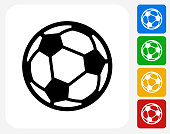 Soccer Ball Icon Flat Graphic Design
