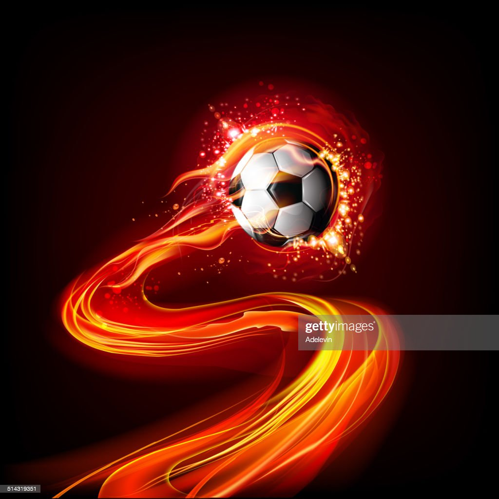 Soccer Ball On Fire Vector Art   Getty Images