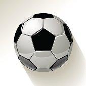 Soccer ball ona white background. Vector illustration.