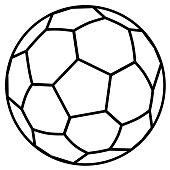 soccer ball outline