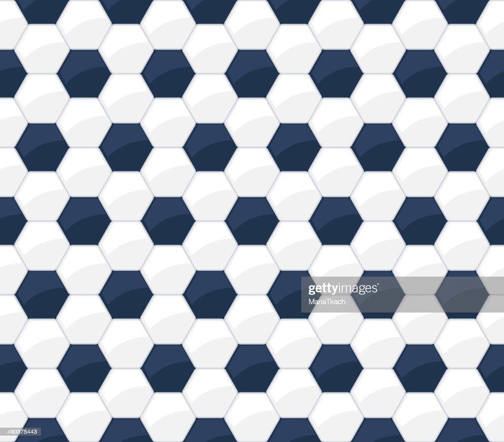 Soccer ball seamless pattern. Football background.