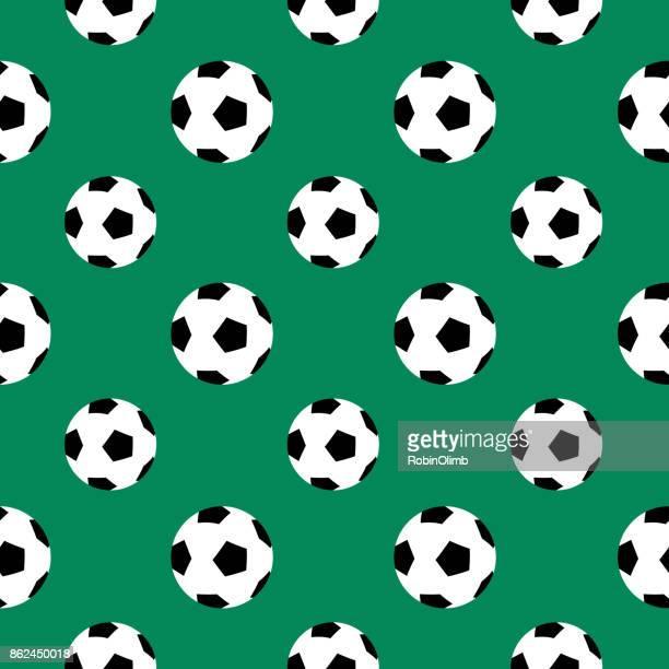 soccer ball seamless pattern - soccer ball stock illustrations