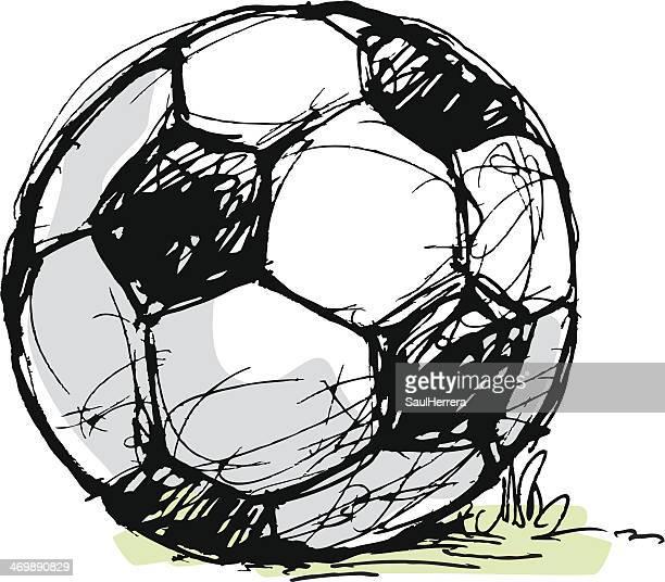 ilustraciones, imágenes clip art, dibujos animados e iconos de stock de pelota de fútbol - cancha futbol