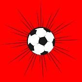 Soccer Ball Vector Template Design