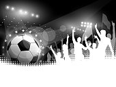 Soccer Ball with Crowd Cheering