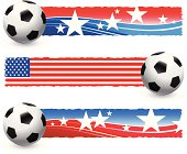 Soccer Ball with Patriotic Banners