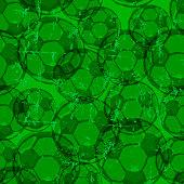 Soccer balls seamless background pattern