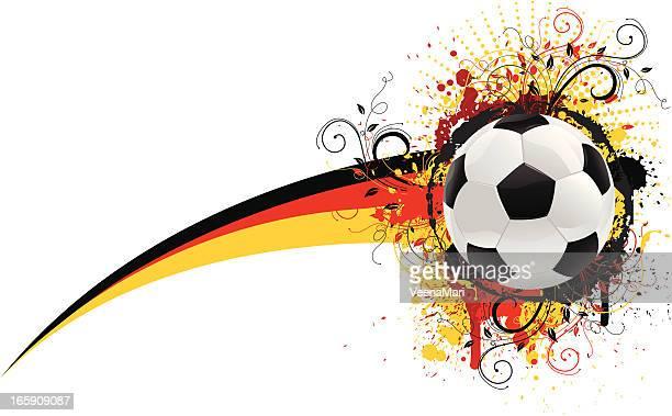 fußball-banner - deutsche flagge stock-grafiken, -clipart, -cartoons und -symbole