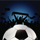 soccer blue background