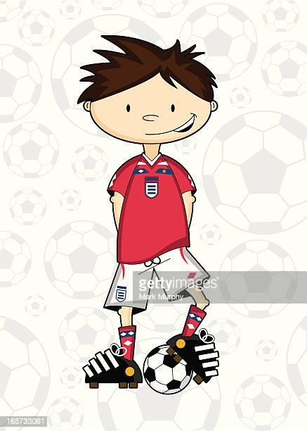 Fußball junge Zeichen