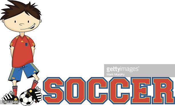 Soccer Boy Learn to Read Illustration