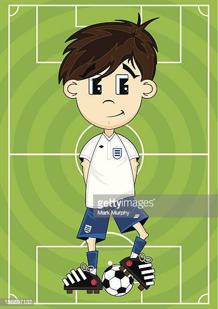 Soccer Boy on Pitch