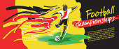 Soccer card design and football vector