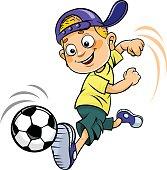 Soccer cartoon kid.