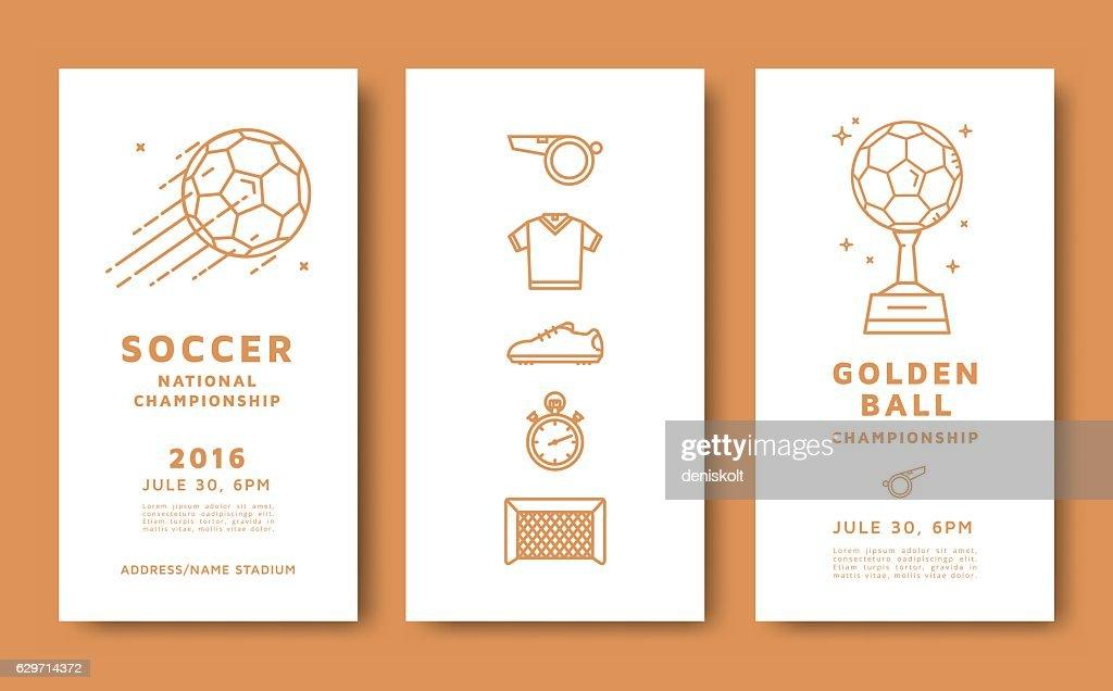 Soccer championship card