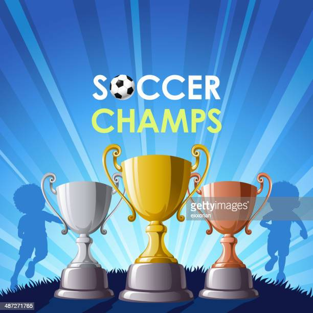 soccer champs - drive ball sports stock illustrations, clip art, cartoons, & icons